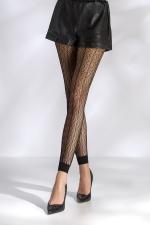 Leggings résille TI050 - noir : Leggings de charme en résille fantaisie à motifs.