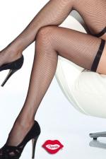 Bas résille Slim : Bas résille très élégants avec leur jarretière fine et élastique qui ceinture vos cuisses.