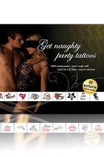 Tatouages Plan Coquin : Get Naughty Party Tattoos : 1 Set de 40 Tatouages coquins temporaires pour inciter à la débauche!