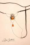 String Scarabée Sacré - argent