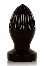 Plug anal presse-citron : Stimulateur anal géant en forme de presse-agrumes, gamme All Black.