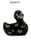 Mini canard vibrant Romance noir et or - Déclinaison noire et or du célèbre canard vibrant dans la collection