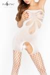 Combinaison Voodoo Passion - Combinaison bustier ouverte à l'entre-jambes en résille et filet, un tempérament hot hot hot !