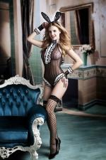 Déguisement coquin Bunny girl : Transformez vous en hôtesse coquine du célèbre magazine Playboy avec ce déguisement sexy de femme-lapin.