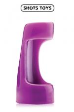 Vibrating sleeve - Shots Toys : Gaine vibrante à utiliser comme anneau de pénis ou comme extension de votre vibromasseur favori.