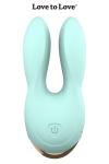 Double stimulateur Hear Me bleu - Un design élégant, une couleur glossy, de grandes oreilles contenant chacune un moteur ultra puissant…