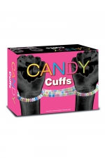 Menottes en bonbons : Découvrez les Candy Cuffs, une paire de menottes comestibles en bonbons Candy pour vos jeux coquins et gourmands.
