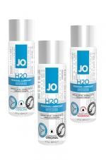 Lubrifiant Jo H2O - 60 ml : Le lubrifiant de référence de System Jo, à base d'eau et disponible en version normale, chauffante ou rafraichissante.