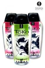 Lubrifiant Toko Aroma - 165 ml : Lubrifiant intime aromatisé, pouvant être léché, à base d'eau, par Shunga, le spécialiste du plaisir intime.