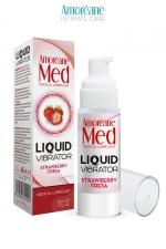 Lubrifiant Liquid Vibrator Fraise 30ml - Amoreane Med