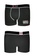 Boxer J&M en coton - Noir 1 : Ne loupez jamais une belle occasion de montrer votre... Boxer (modèle noir 1 en coton) Jacquie et Michel.