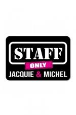 Plaque de porte J&M Staff