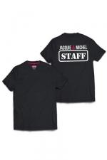 Tee-shirt J&M Staff (dos) : T-shirt humoristique Jacquie et Michel, avec inscription STAFF dans le dos, pour impressionner votre entourage !