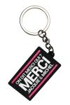 Porte-clés J&M logo rectangulaire - Porte-clés Jacquie & Michel, format rectangulaire, et son slogan incontournable