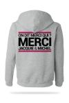 Sweat-shirt Capuche J&M gris  (taille Small) - A la demande générale, voici le sweat à capuche J&M pour compléter votre tenue de fan (modèle gris clair).