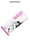 Chéquier Kamasutra Challenges - 20 Challenges à partager pour des moments d'amour acrobatiques. Carnet dessiné par Apollonia Saintclair pour Love to Love.