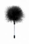 Plumeau à caresses noir - Sweet Caress - Mini plumeau à caresses en plumes de dinde, pour stimuler les zones érogènes de votre chéri(e).