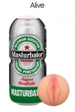 Masturbateur vagin humoristique - Alive : Associez le fun au plaisir avec ce  Masturbateur de marque Alive en forme de canette de bière,