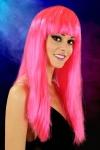 Perruque cheveux longs Fuchsia