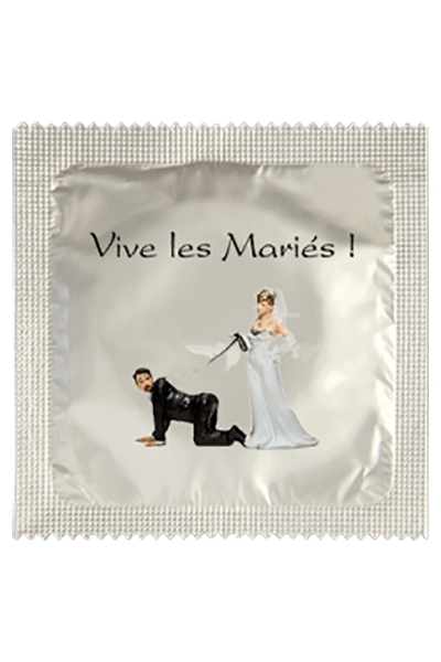 Préservatif humour - Vive Les Mariés