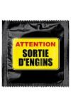 Préservatif humour - Attention Sortie D'engins - Préservatif