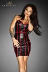 Robe Taboo - Noire - Robe en wetlook mat, avec une fermeture lacée style corset sur toute la hauteur de la fente arrière.